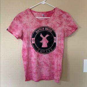 Dutch Bros Pink Tie Die Shirt